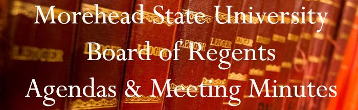 Morehead State Board of Regents Agenda Books and Meeting Minutes