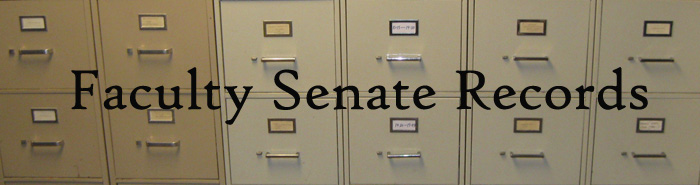 Faculty Senate Records
