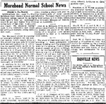 Morehead Normal School News by Lexington Herald