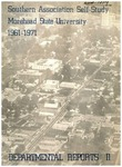 Southern Association Self-Study Morehead State University 1961-1971 Departmental Records II