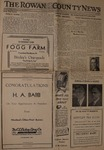 Congratulation Harvey A. Babb by Rowan County News (Morehead, Ky.)