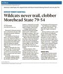 Wildcats never trail, Clobber Morehead State 79-54