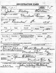 J. Wesley Hatcher Draft Registration Card