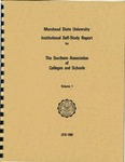 Morehead State University Institutional Self-Study Report for the Southern Association of Colleges and Schools - Volume 1, 1978-1980