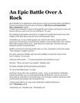 An Epic Battle Over a Rock