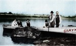 Photograph - People in a Boat near Indian Head Rock