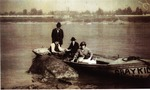 Photograph - People in Boat near Indian Head Rock
