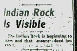 Indian Rock is Visible