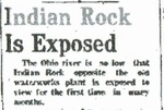 Indian Rock is Exposed