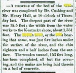 A Profile of the Bed of the Ohio River by Portsmouth Daily Times