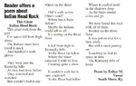 Reader Offers a Poem about Indian Head Rock