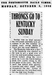 Throngs go to Kentucky Sunday