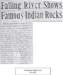 Falling River Shows Famous Indian Rocks