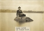 Photograph - Elmer Dover on Indian Head Rock