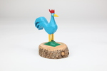Blue Christmas Rooster by Minnie Adkins