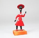 Black Woman in Red Dress by Minnie Adkins