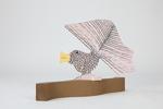 Pink bird by Marvin Finn
