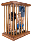 Man in Cage Holding a Man in A Cage by Marvin Francis