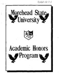 Honors Handbook 1990-91 (Draft)