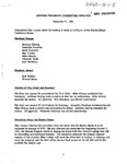 Honors Program Committee Minutes 1991-09-11