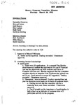Honors Program Committee Minutes 1992-03-30