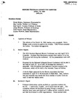 Honors Program Committee Minutes 1994-04-15