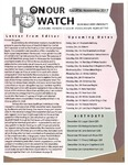 Honour Watch #011 by Jonathan Dean, Lin-hsiu Huang, Sydney Cook, Victoria Nash, Clare Johnson, Luke Kirk, and Harrison B. Fouch