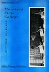 1959-60 Basketball at Morehead State College Official Program & Brochure by Morehead State University. Office of Athletics.