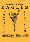 Morehead College Eagles Football Program by Morehead State University. Office of Athletics.