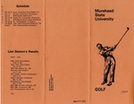 Morehead State University Golf 1977