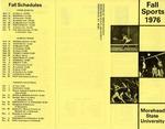 Fall Sports 1976 Morehead State University