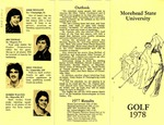 Morehead State University Golf 1978