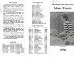 Morehead State University Men's Tennis 1978