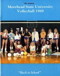 Morehead State University Volleyball 1989