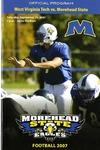 West Virginia vs. Morehead State Official Program 2007