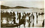 Children along beach coast No. 98