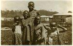 Children before a village No. 3