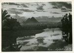 Cairo - Nightfall at the Pyramids
