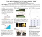Detection of Radioactivity in Black Organic Shale