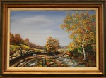 Country Road crossing a Stream during the Fall by Chris Barker