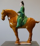 Tri-colour Glaze Pottery Horse